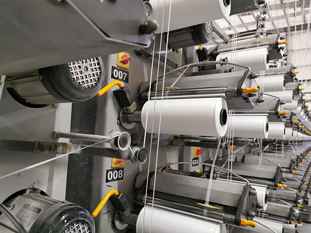 Yarn Winding for PP Woven Bags manufacturing